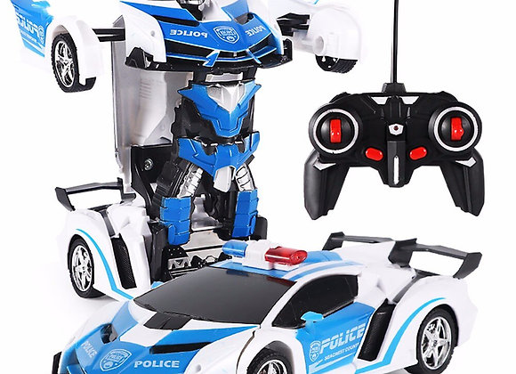 RC Police Toy Car Transformer Robot Vehicle