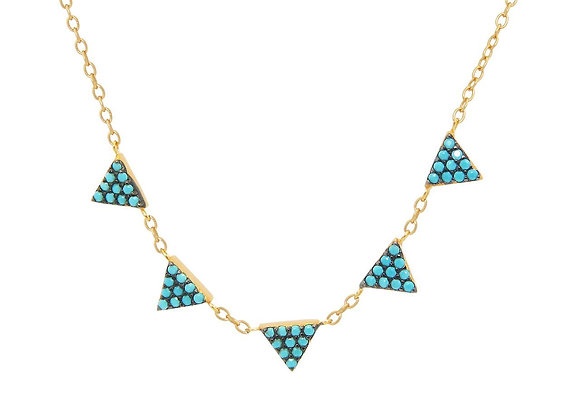Turquoise Triangles Necklace