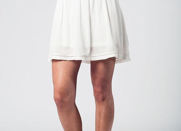 Aztec White Mini Skirt