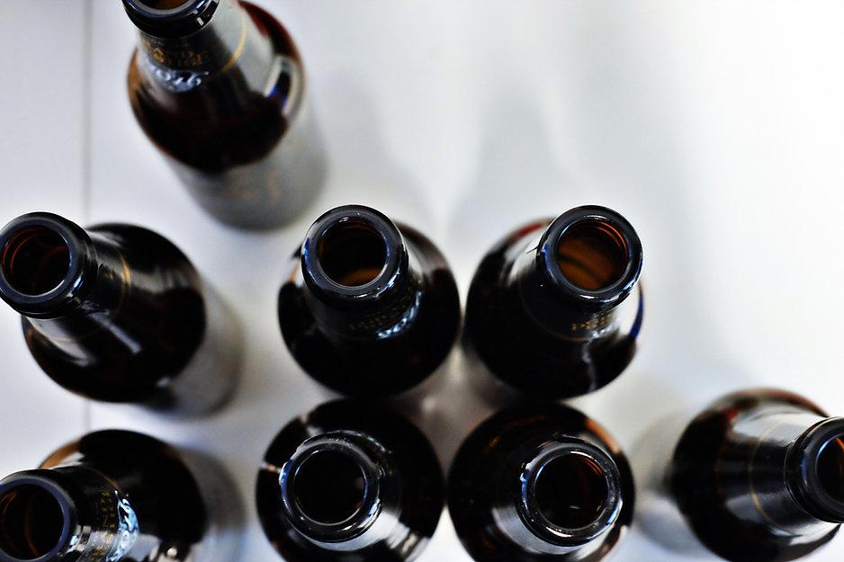 Garrafas de cerveja vazias