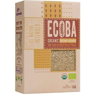 אורז יסמין מלא אורגני ECOBA