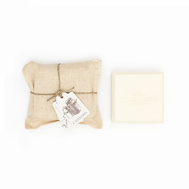 Castelbel סבון חלב עיזים עטוף  פשתן