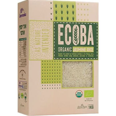 אורז יסמין לבן אורגני ECOBA