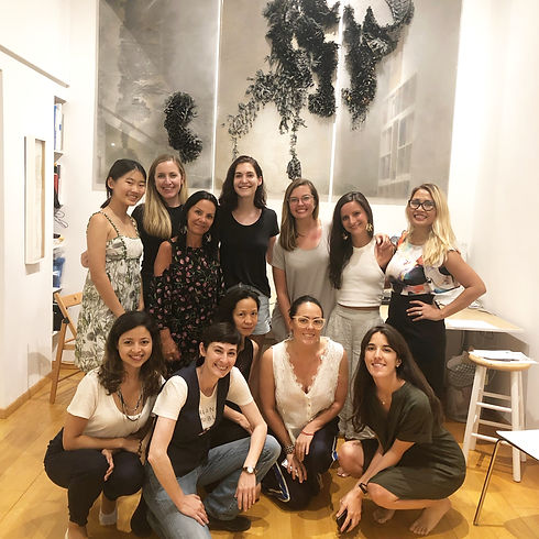 Professional women of creative soloprene