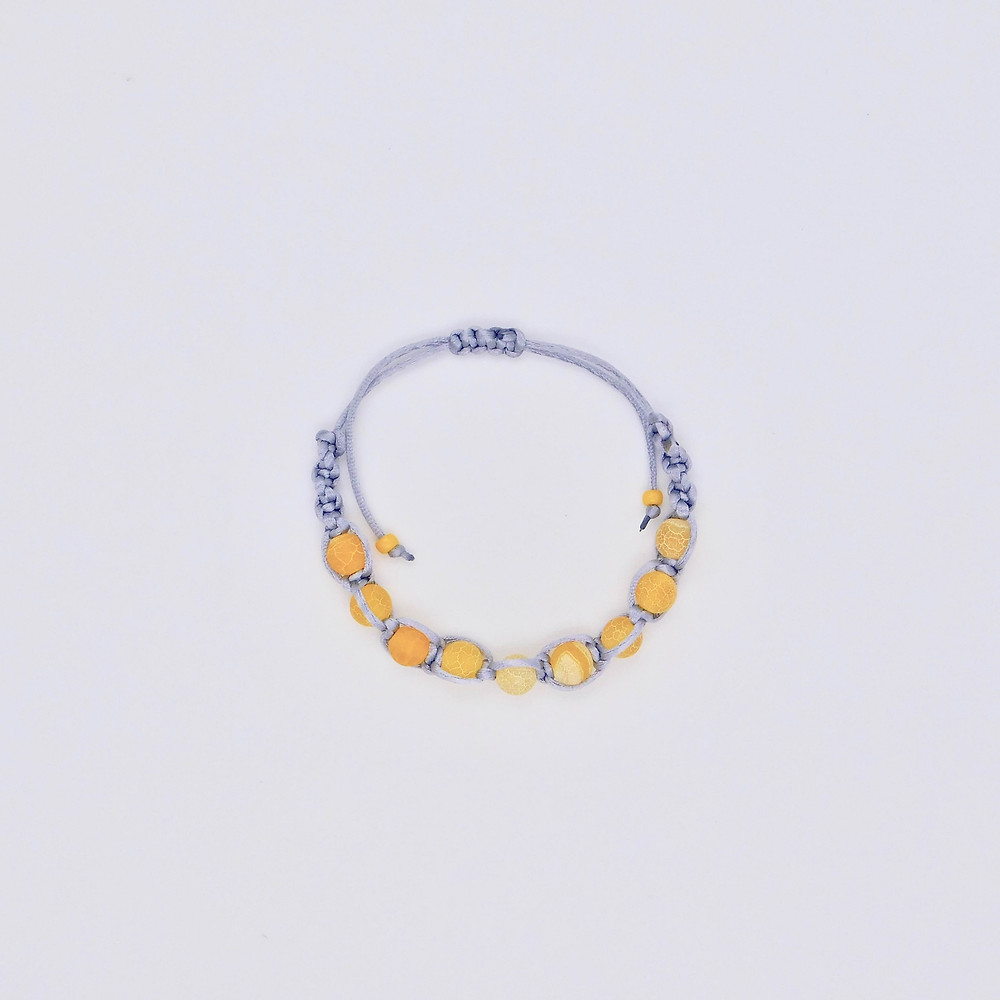 Pantone Color of the Year 2021 Iluminating yellow and Ultimate Gray bracelet.