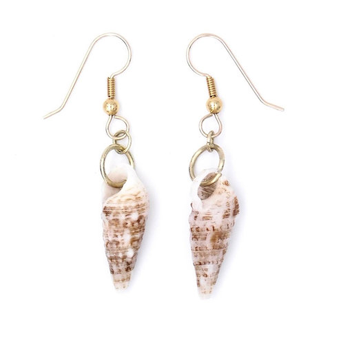 Natural Cerith Shell Earrings (one of a kind)