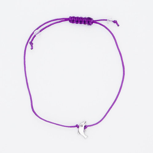 Handmade Sea Inspired Jewelry Violet Dolphin Bracelet/Anklet