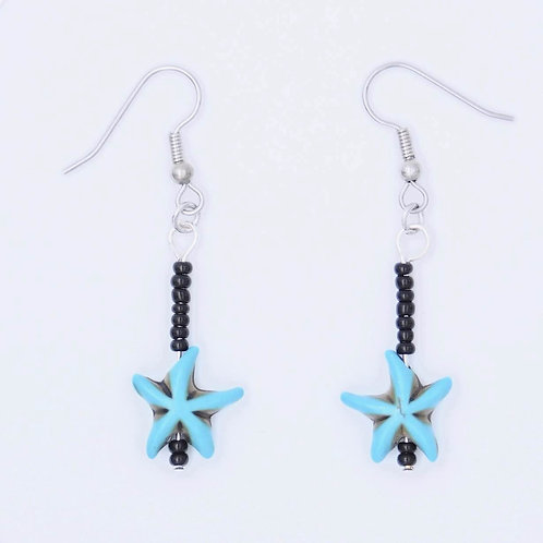 Sea Inspired Jewelry Turquoise Colored starfish handmade earrings