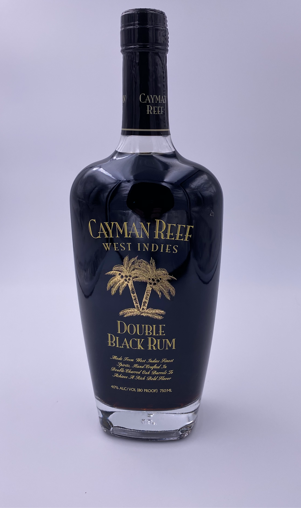 Cayman Reef Double Black Rum Bottle