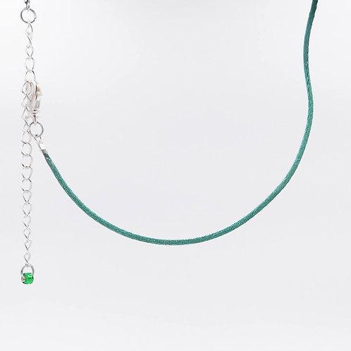 Dark Green Nylon Cord Necklace