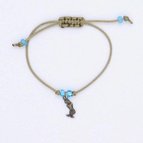Sea Inspired Jewelry Handmade Mermaid and Bead Adjustable Bracelet/Anklet