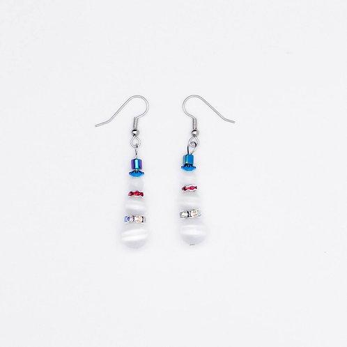 Handmade snowman earrings for the holidays!