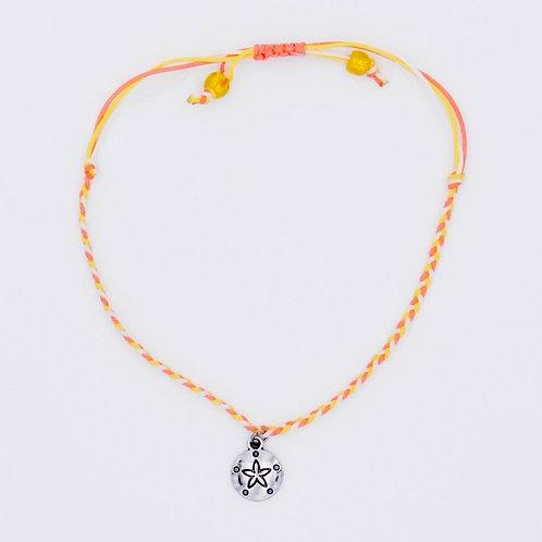 Sea Inspired Jewelry Sand Dollar Handmade Braided Adjustable Bracelet/Anklet