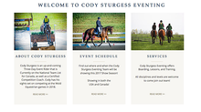 New Website for Cody Sturgess Equestrian