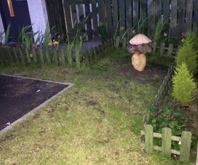 carved mushroom