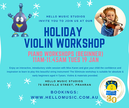 VIOLIN WORKSHOP FOR BEGINNERS