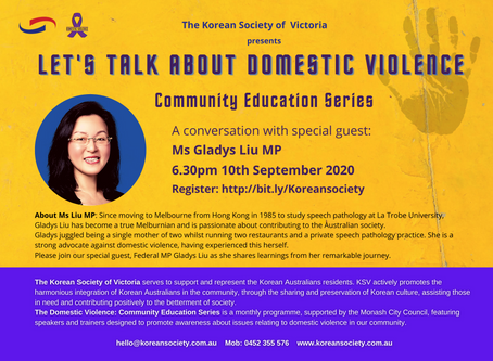 """Event Wrap-Up - """"Let's Talk About Domestic Violence"""" with Ms Gladys Liu MP"""