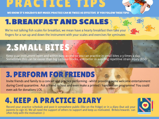 TOP 5 HOLIDAY PRACTICE TIPS!