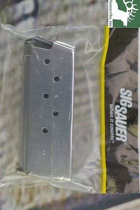 SIG SAUER MAGAZINE MAG-938-9-6 P938 9MM 6RDS STAINLESS STEEL