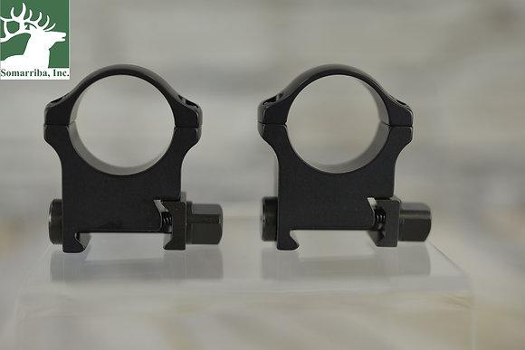 "RECKNAGEL ERA TACTICAL SCOPE RINGS WITH TRIANGULAR NUT 1"" 14 MM HIGH"