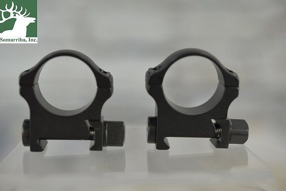 "RECKNAGEL ERA TACTICAL SCOPE RINGS WITH TRIANGULAR NUT 1"" 9.5MM HIGH"