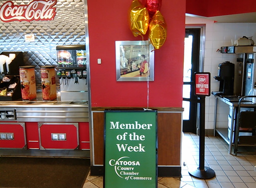 Ringgold Hardee's chosen Catoosa Chamber Member of the Week!