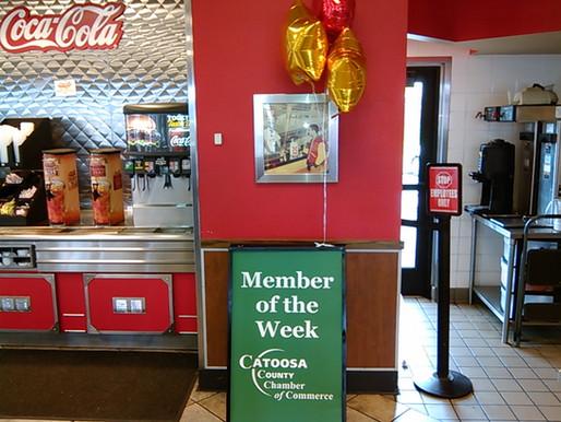Ringgold Hardee's chosen Catoosa Chamber Member of the Week!