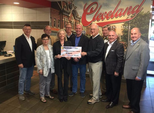 J&S/Hardee's raises over $26,000 to aid special needs of military veterans and their families!