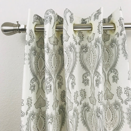 Linen Embroidery Curtain 2072117 & 2096118