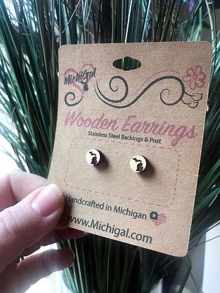 Michigan Wooden Earrings