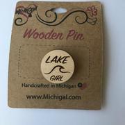 Wooden Pin - Lake Girl