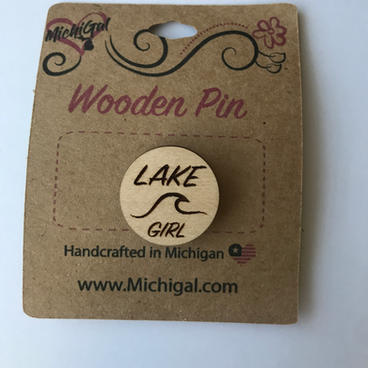 Wooden Pin - Lake Girl