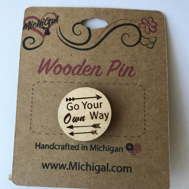 Wooden Pin - Own Way