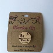 Wooden Pin - Beach Please