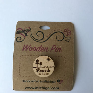 Wooden Pin - Beach Please