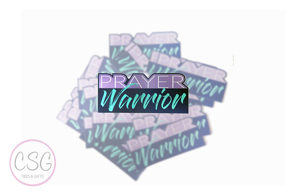 Prayer Warrior Sticker