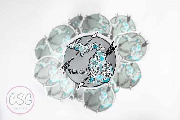 Michigan Arrows Sticker
