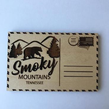 Wooden Magnet - Postcard