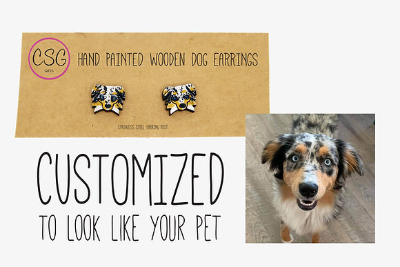 Custom Earrings that look like your Pet