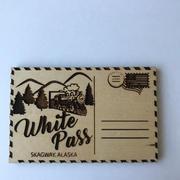 Wooden Magnet Postcard - CUSTOM example