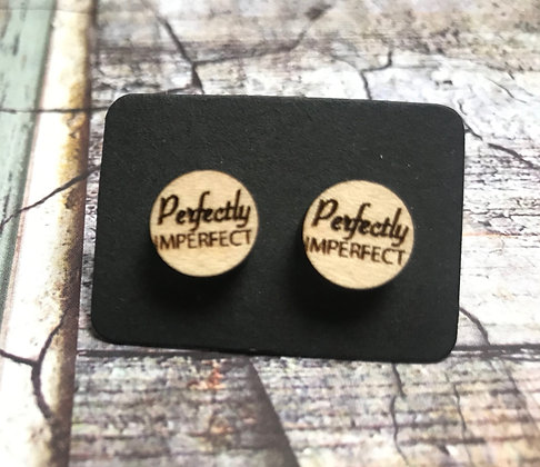 Perfectly Imperfect Wooden Earrings