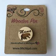 Wooden Pin - Mama Bear