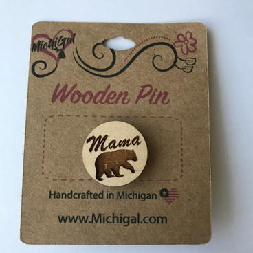 Wooden Pin - Mama Bear