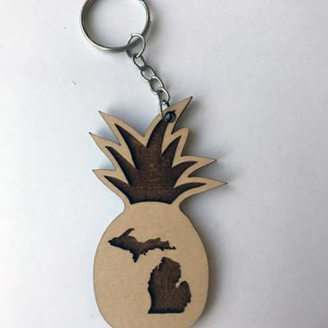 Keychain - Your State Pineapple