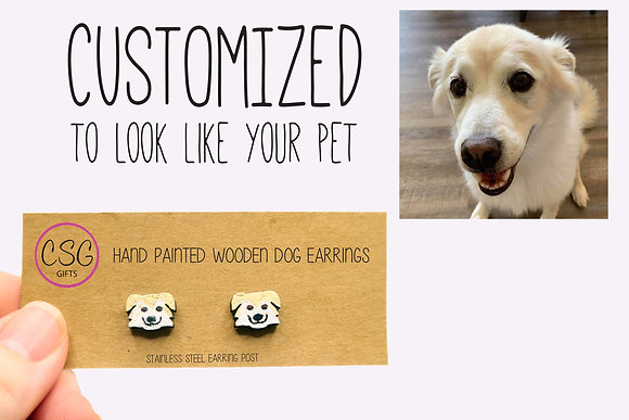 Custom Earrings that look like your Pet