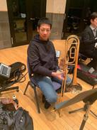 半田信英氏 on Trombone