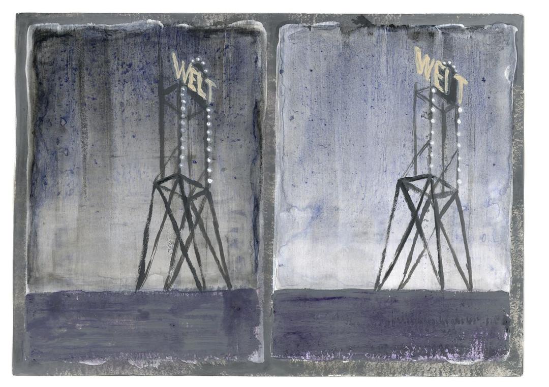Walter Yu | Weltweit, mixed media on paper, 15 x 21 cm, 2016