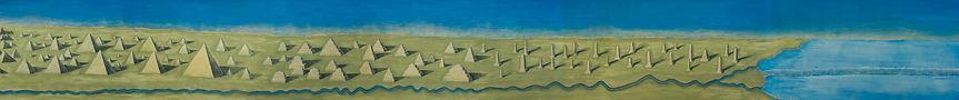 Walter Yu – Untitled, 0,7 x 13 m, 2018, acrylic / pape