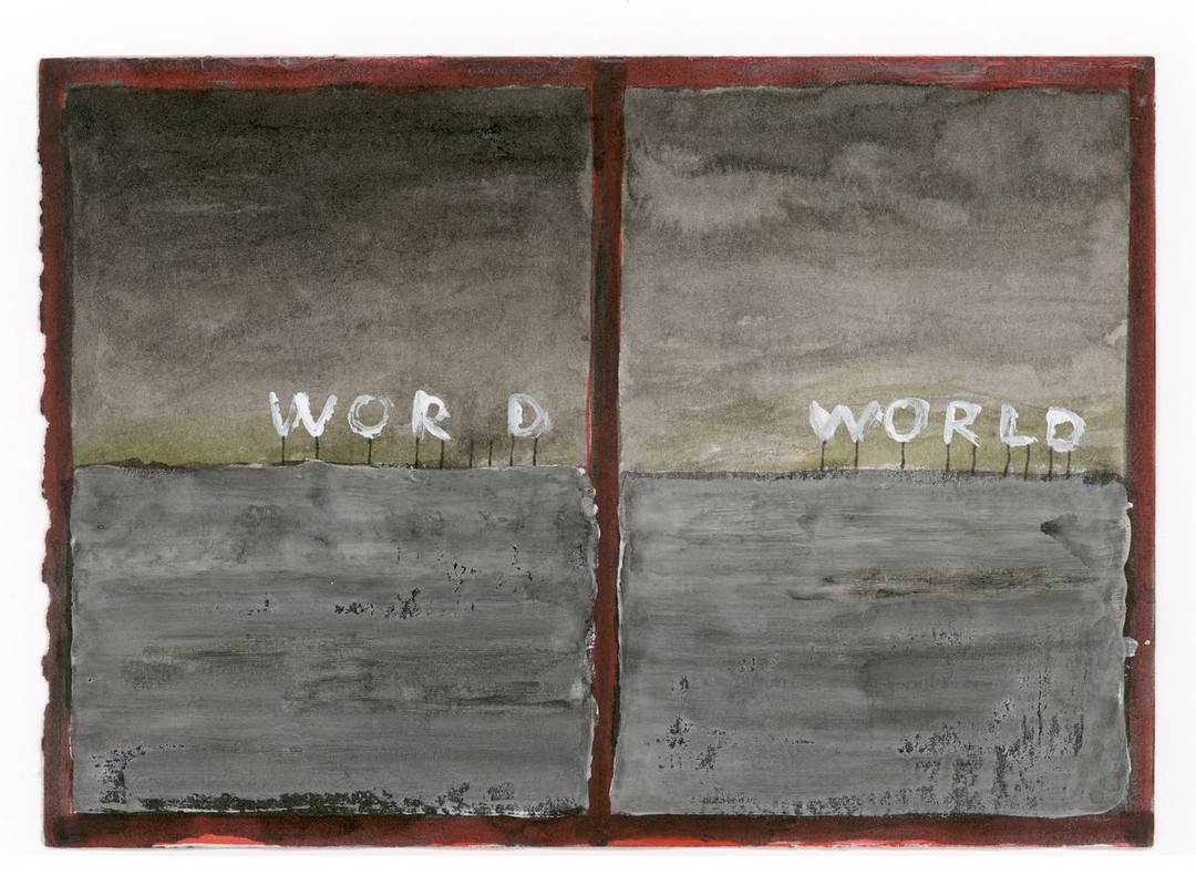 Walter Yu | Word World, mixed media on paper, 15 x 21 cm, 2016