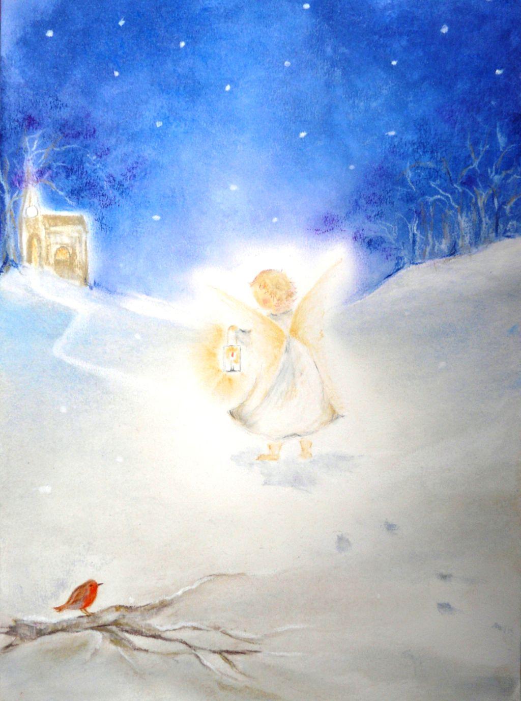 K1007_Engeltje in de sneeuw